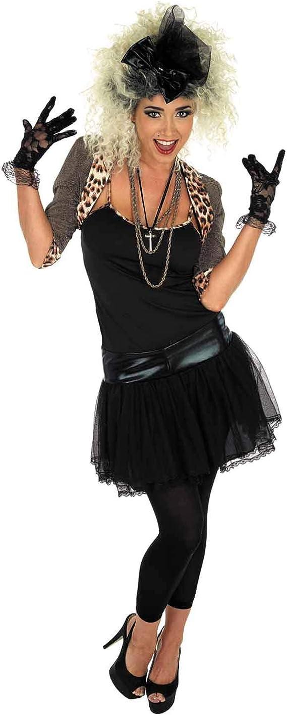Fun Shack Negra Estrella Pop de los 80 Disfraz para Mujeres - S ...
