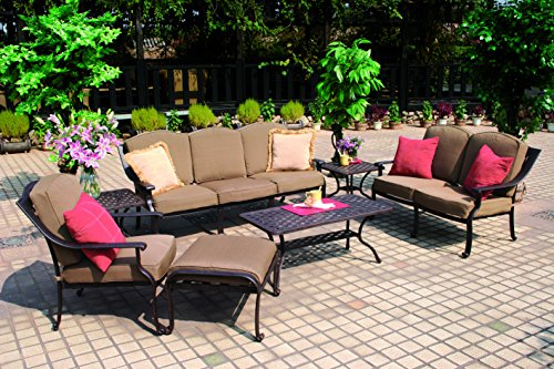 Darlee Ten Star 7-Piece Deep Seating Conversation Set/Cushio