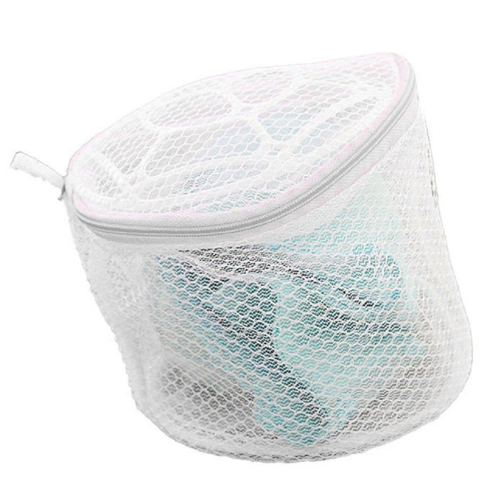 Laundry Wash Bag, Staron Mesh Laundry Bag Zipper Delicates Bra Wash Bags for Hosiery, Underwear, Bra, Garment Lingerie Effective Protection Travel Storage Organize Drying Machine Washing Bag (White❤️)