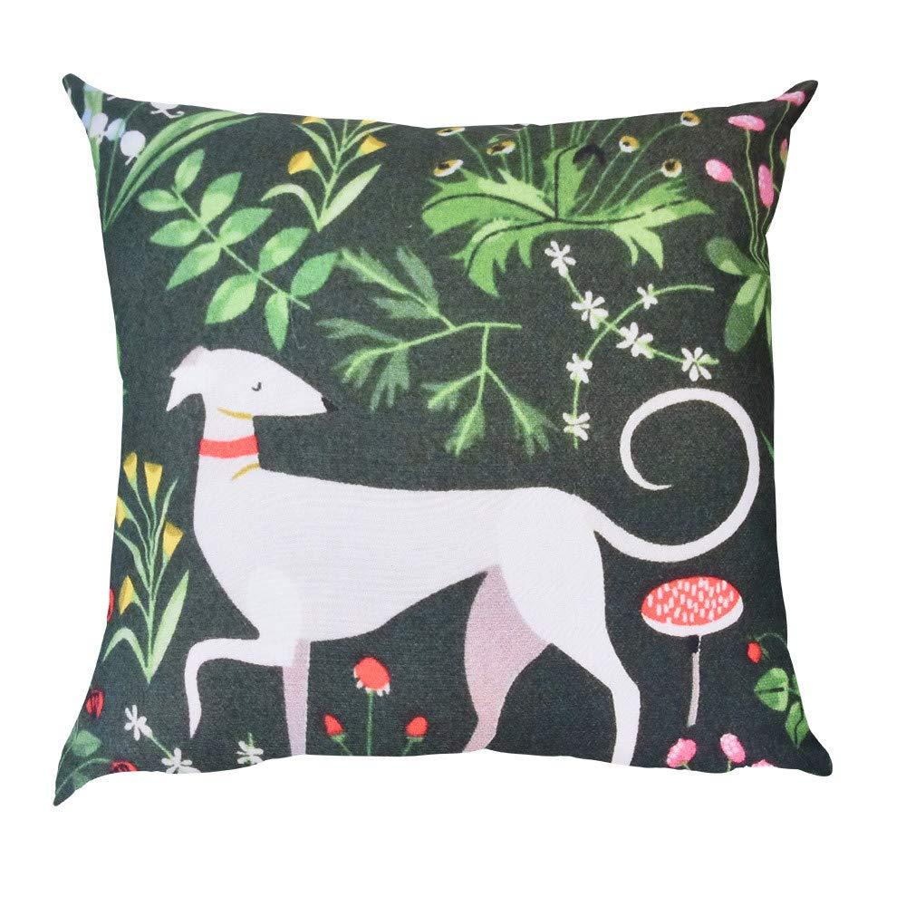 Kimloog 18x18 Animal Pattern Throw Pillow Case Sofa Car Cushion Cover Home Decor(A)
