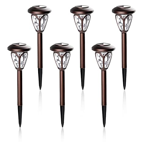 Captivating Amazon.com : GIGALUMI Solar Lights Outdoor Garden Led Light  Landscape/Pathway Lights Brown  6 Pack : Garden U0026 Outdoor