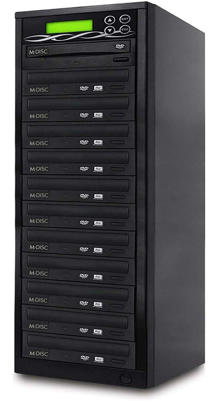 BestDuplicator DVD Duplicator Built-in BD Certified 24x Burner (1 to 11 Target) Copier Tower Replication Recorder + Free Nero Multimedia Suite 10 Essentials CD/DVD Burner Software by BestDuplicator