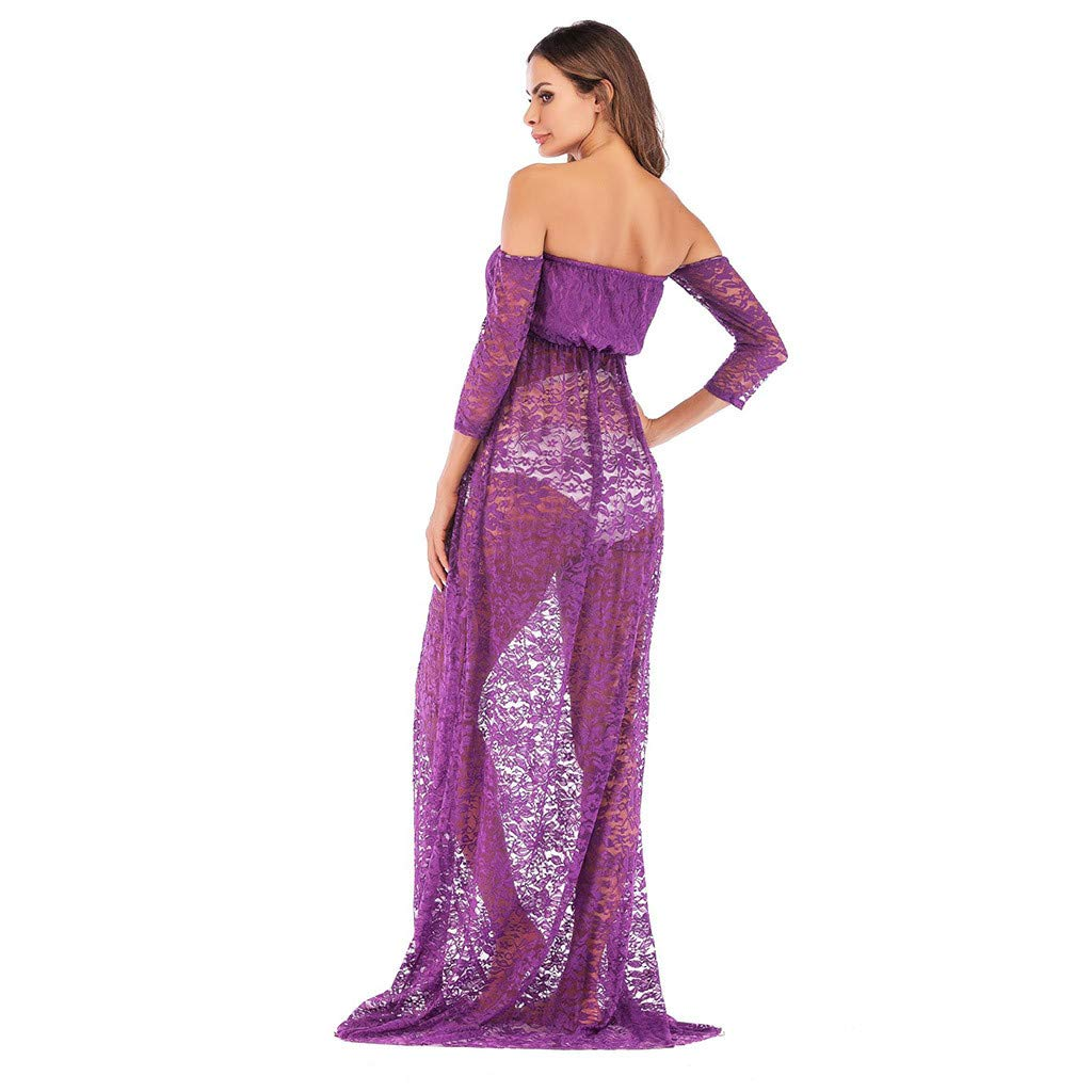 Amazon.com: Maxi vestido de mujer para embarazo, 7 cuartos ...