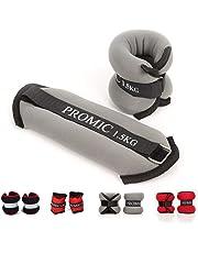 Promic Juego de lastres para tobillo o muñeca, ajuste cómodo Peso ajustable para ejercicio Fitness