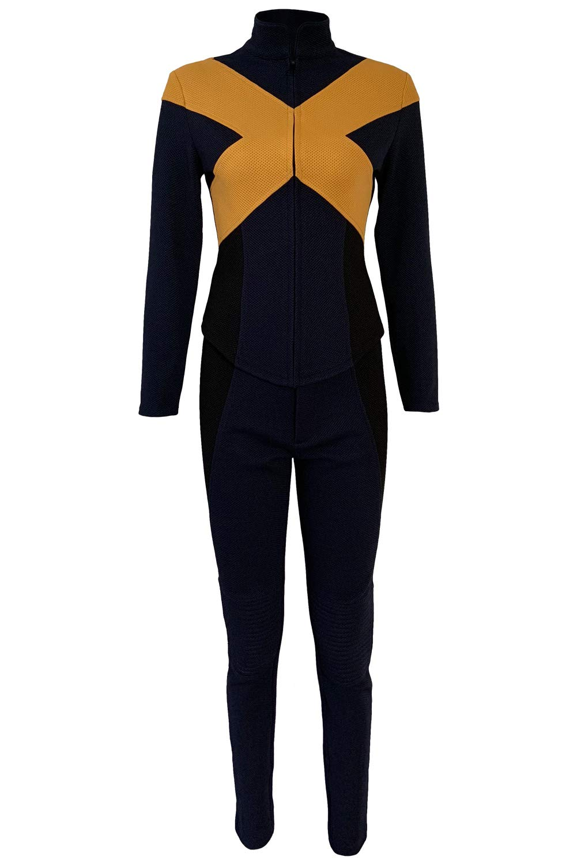MingoTor Dunkler Phönix Jumpsuit Bodysuit Catsuit Cosplay Kostüm Damen S
