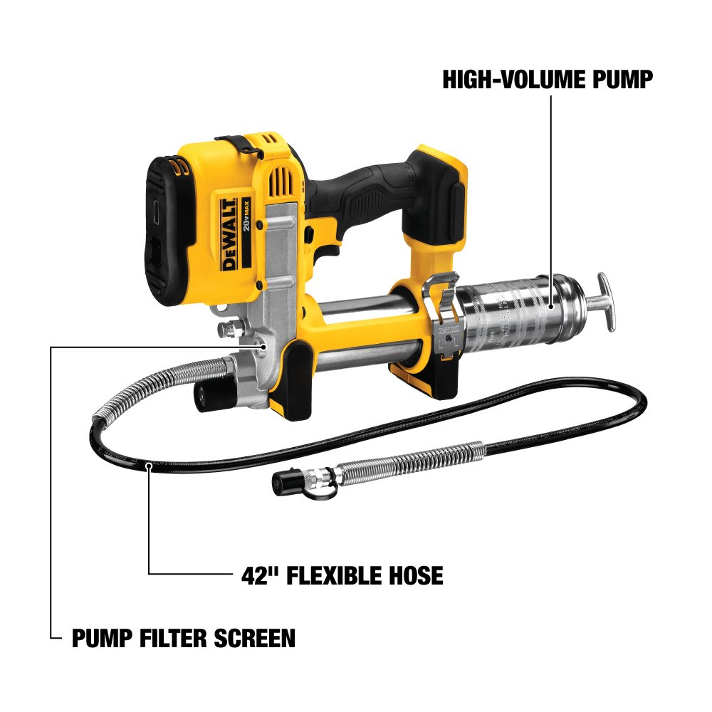 DeWalt DCGG571B Battery Powered Grease Gun}