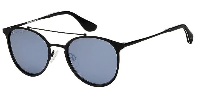 Gafas de sol de mujer y hombre Kristian Olsen polarizadas.Calidad Óptica. Lente espejo plata. Modelo Barcelona Silver.: Amazon.es: Ropa y accesorios