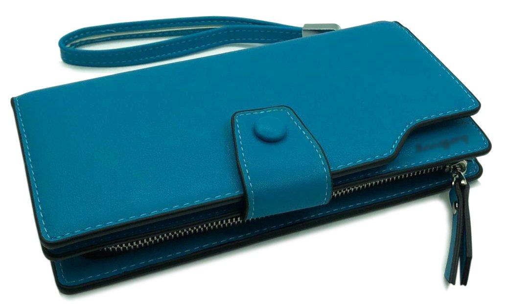 Wallet-NEWANIMA Women Multi-card Two Fold Long Zipper Clutch Purse (Style3-Skyblue) by NEWANIMA (Image #5)