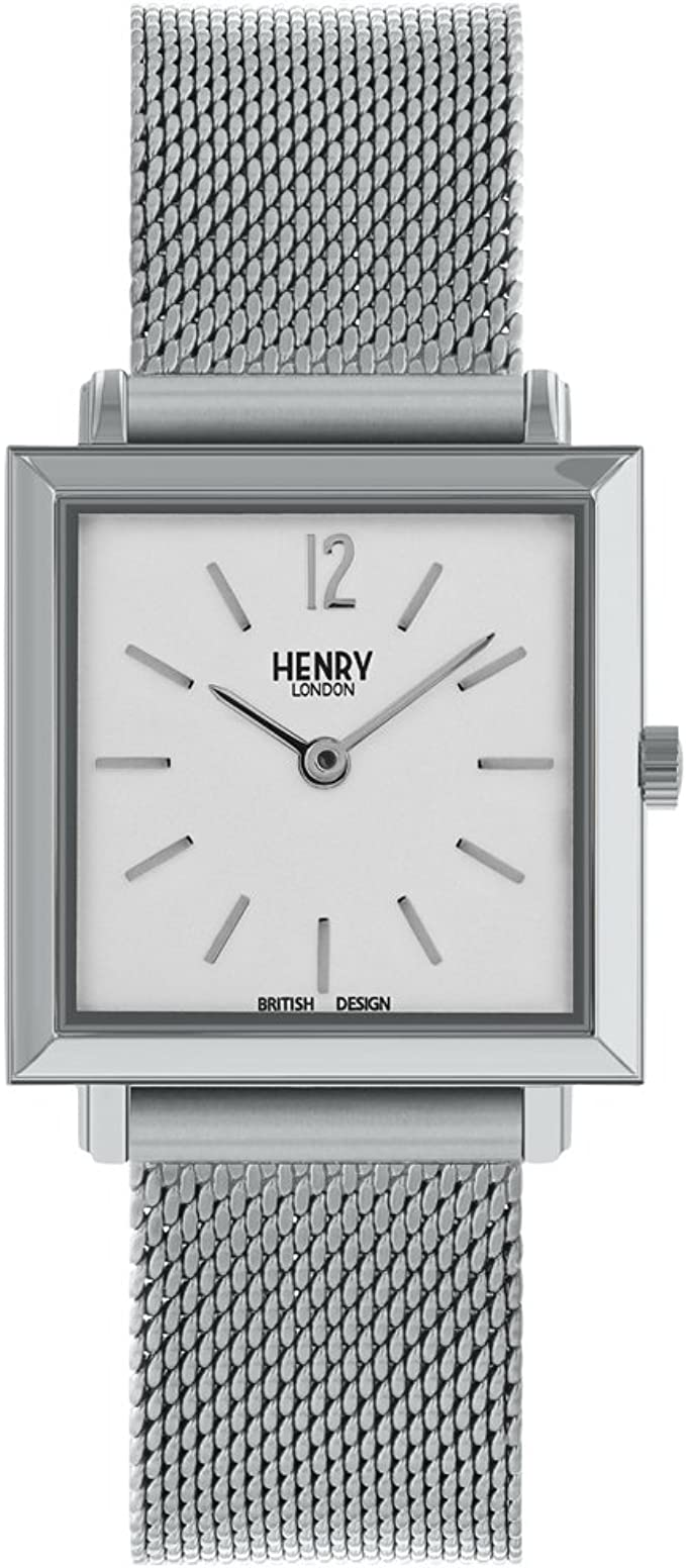 Henry London - Reloj Analógico para Mujer, de Cuarzo con Correa en ...