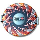 Snow Daze All Around Orange Flame 26'' Snow Saucer Disc Sled