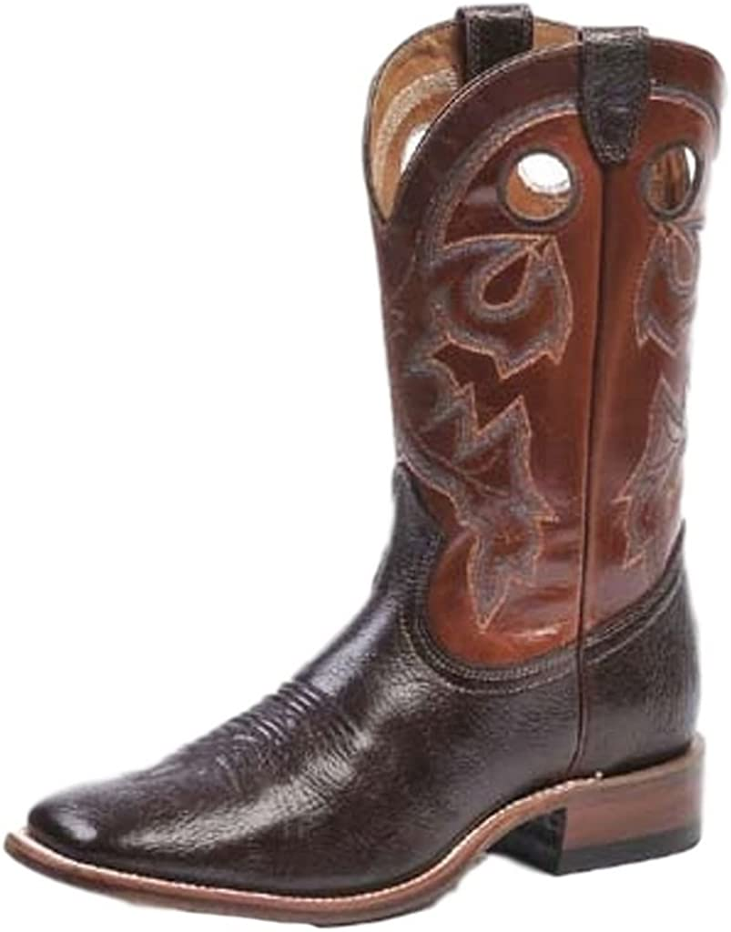 Boulet Men's Stockman Cowboy Boot Wide