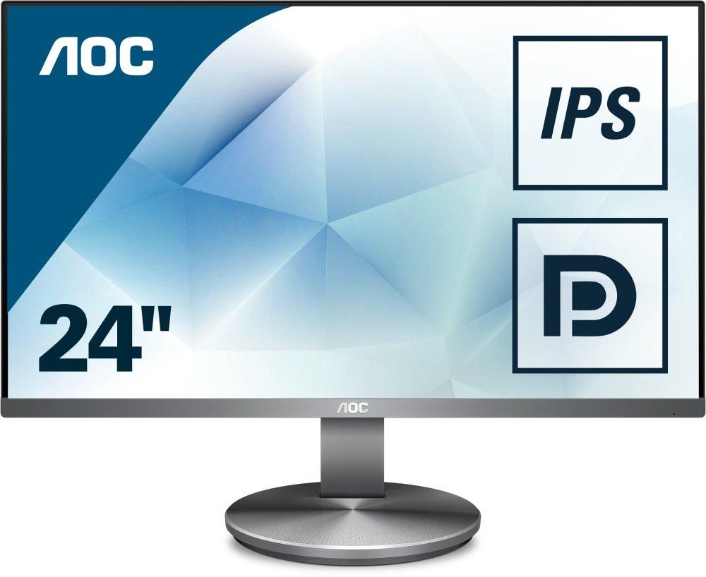 AOC Monitores I2490PXQU/BT - Monitor de 23.8' (resolució n 1920 x 1080 pixels, tecnologí a WLED, HDMI, DisplayPort, 4 ms, USB 3.0, regulable en altura), color negro tecnología WLED AOC International