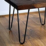 Diy Coffee Table and End Tables Locisne 4 Pack Heavy Duty Hairpin Table Legs- Black Cast Steel 9mm 2 Rods 16 inch Height Modern Style Metal Hairpin Legs for Wood Furniture Coffee Table & End Table
