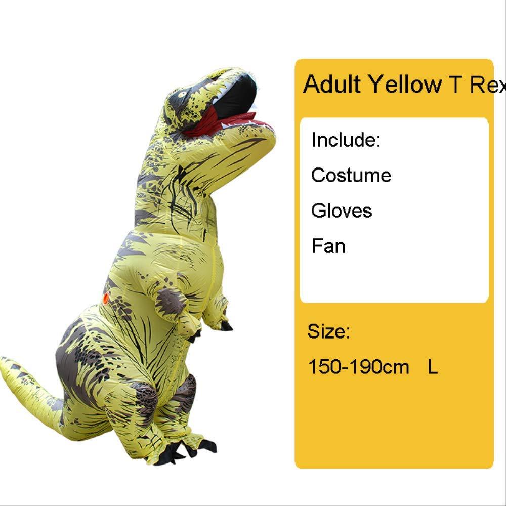 Adult jaune Taille Unique T REX HUKD Enfants Adultes Gonflable Dinosaure Costume Costumes Hommes Femmes HalFaibleeen fête DéguiseHommests voiturenaval Cosplay
