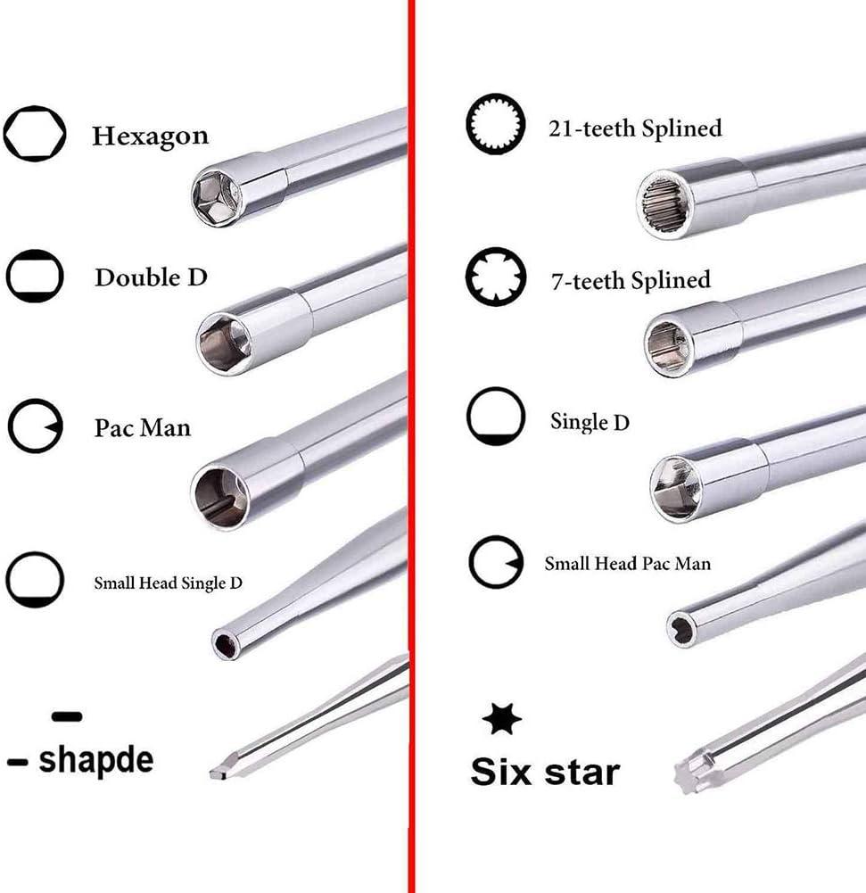 Meshin 11Pcs//Set carburator Screwdriver Set with Bag Brushes Adjustment Tool Kit Tune Up for Common 2 Cycle Carburator