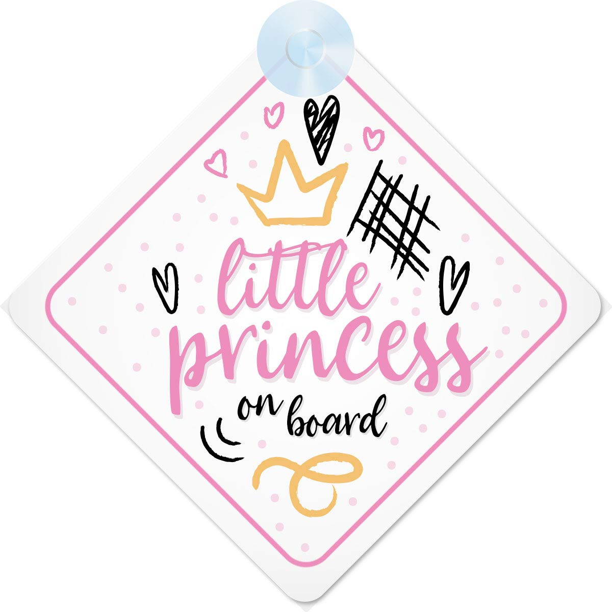 UNICORN SISTERS ON BOARD CAR WINDOW SIGN NON PERSONALISED PINK CHILD SAFETY