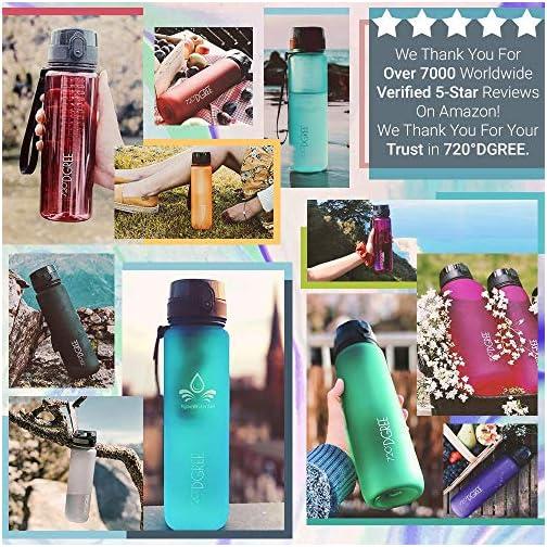 "720°DGREE Water Bottle ""uberBottle"" +Fruit Infuser - 1.5L - BPA-Free, Leakproof, Reusable - Large Tritan Bottle for Sports, Fitness, Outdoor, Hiking, Travel - Lightweight, Sustainable  "