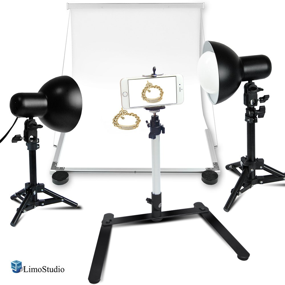 LimoStudio LED Table Top Photo Photography Studio Lighting Kit with Light Stand Tripod & Portable Ecommerce Business Shooting Table White Background, AGG2250