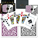 Copag 1546 Poker Purple/Gray Jumbo Index, Playing Cards