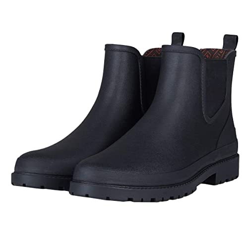 UNICARE Men\u0027s Chelsea Rain Boots Waterproof Slip on Shoes Nonslip Short  Ankel Boots Rubber Rain Footwear Handmade