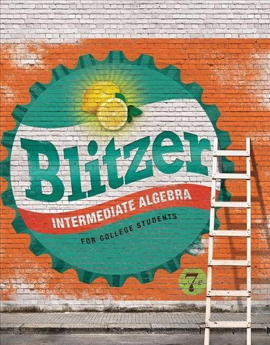Intermediate Algebra for College Students Access Card Package 7th Edition Blitzer Developmental Algebra Series