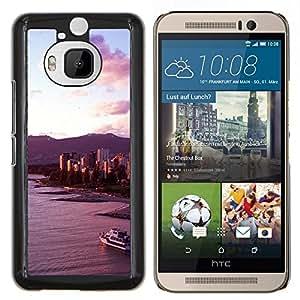Eason Shop / Premium SLIM PC / Aliminium Casa Carcasa Funda Case Bandera Cover - Playa Costa Yate Sky View - For HTC One M9+ M9 Plus
