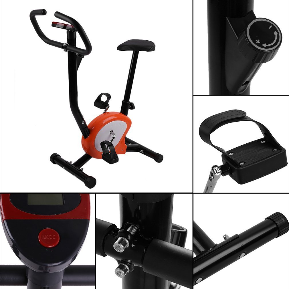 Hifeel Fahrrad Heimtrainer Innen Einstellbar Home Fitness Pedal Heimtrainer Upright LCD Display Fahrrad Upright Heimtrainer Indoor Radfahren Fahrrad