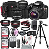 : Canon EOS Rebel T6 DSLR Camera with EF-S 18-55mm f/3.5-5.6 IS II Lens, EF 75-300mm f/4-5.6 III Lens, 64GB, along with Fibertique Cleaning Cloth, and Xpix cleaning Kit and Deluxe Accessory Bundle