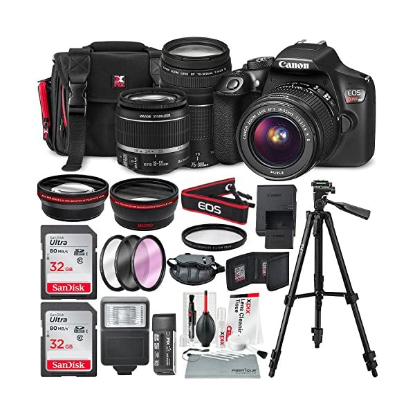 61 9pDYkDrL. SS600  - Canon EOS Rebel T6 DSLR Camera with EF-S 18-55mm f/3.5-5.6 is II Lens, EF 75-300mm f/4-5.6 III Lens, 64GB, Along with…