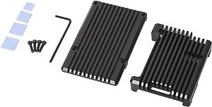 YaeCCC Metal Black Case Cooling Protection Shell Heat Dissipation for Raspberry Pi 3 B/B+, Pi 2 B/B+