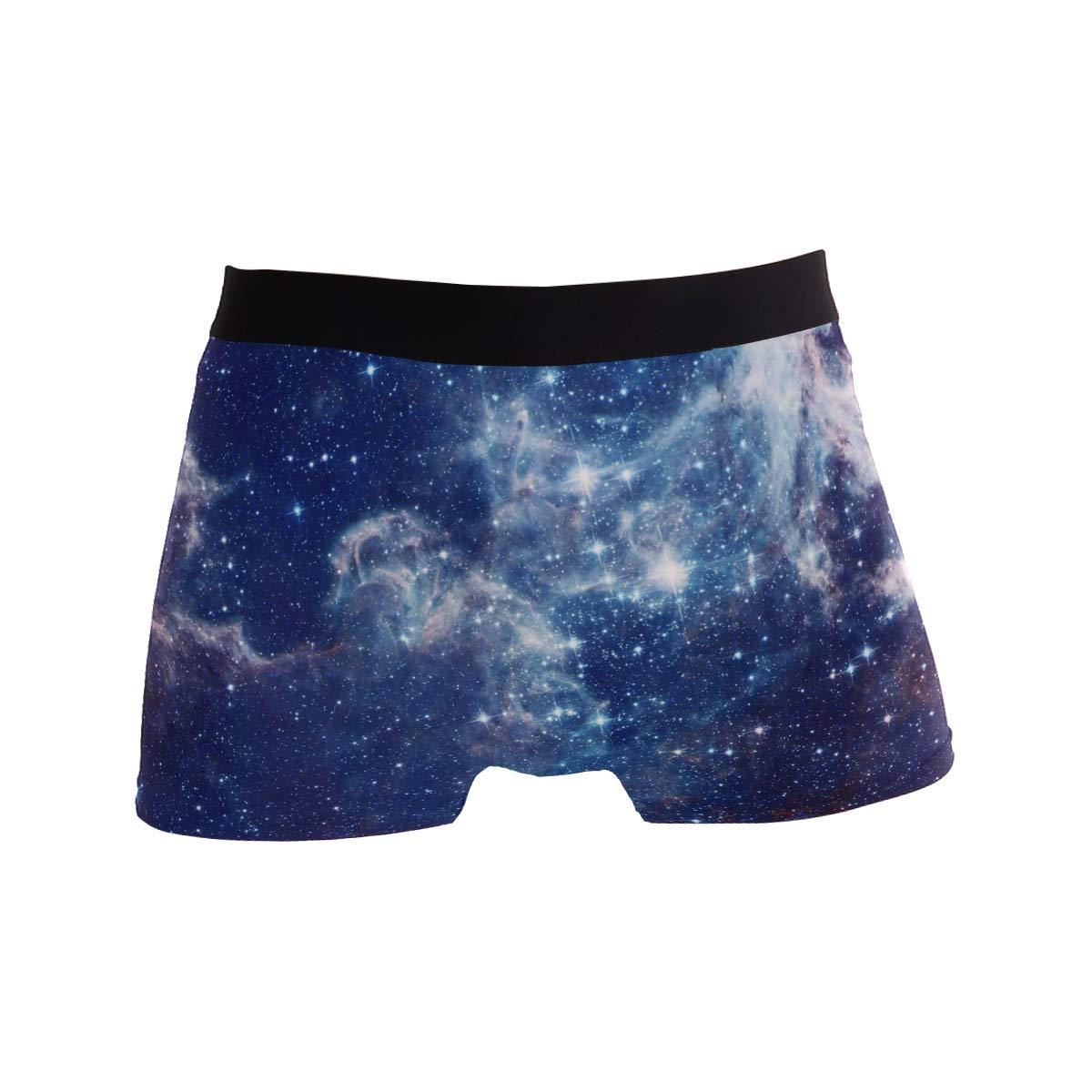 BETTKEN Mens Boxer Briefs Galaxy Nebula Deep Space Short Underwear Soft Stretch Underpants for Men Boys S-XL