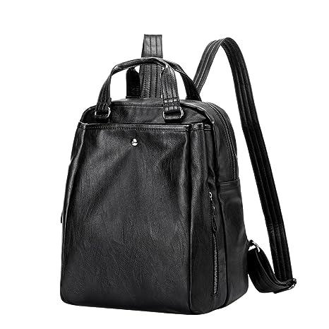 ca0009b76 Mochila Mujer Casual Escolar de Cuero de Oveja Suave, Daypack Elegante  Práctico Backpack Ligero de