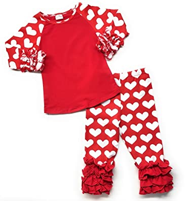 Amazon Com Cute Kids Clothing Toddler Girl Valentine S Day Heart