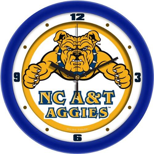 SunTime NCAA North Carolina A&T Aggies Traditional Wall Clock Aggies Ncaa Wall Clock