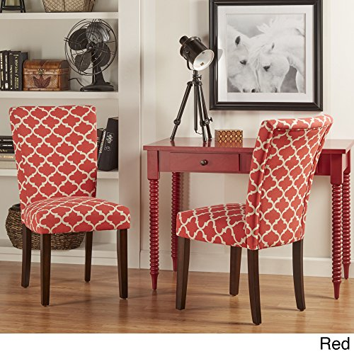 2-Piece Starlite Moroccan Upholstered Parsons Wooden Dining