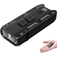 NITECORE TIP SE 700 Lumen USB-C Rechargeable LED Keyring Torch 4 Modes Waterproof Pocket Keychain Flashlight ([ BLACK ])