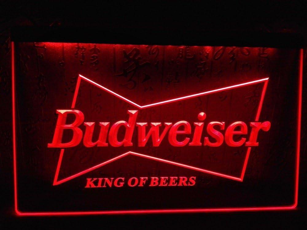 LEDHouse Budweiser La Signatura LED El Acrílico Signo Iluminación El Bar Los Personajes De La Publicidad De Neón De Colour Rojo De Escudo