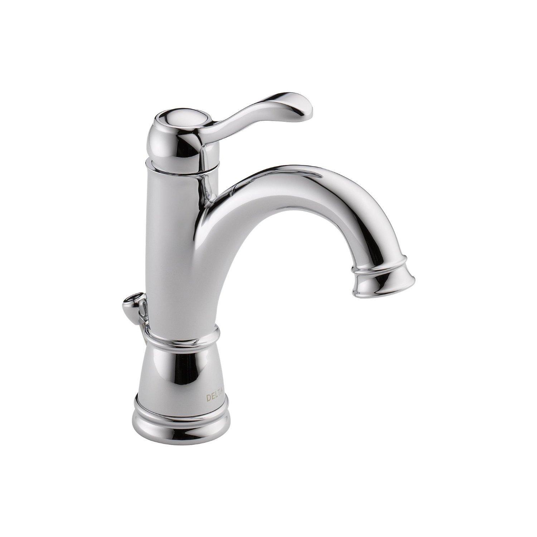 Delta 15984LF Porter Single Handle Centerset Bathroom Faucet, Chrome