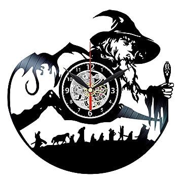 Reloj de Vinilo con inscripción en inglés Lord The Rings - Decoración para Pared - LOTR Regalos: Amazon.es: Hogar