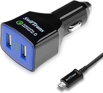 Swiftrans 36W 2-Port USB Car Charger
