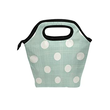 Image Unavailable. Image not available for. Color  ALAZA Retro Backdrop Polka  Dots Vintage Colors Insulated Lunch Tote Bag ... f4c4ed6c2785b
