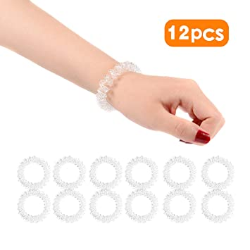 Spiral Hair Ties Plastic No Crease Elastic Ponytail Holders Twist Hair Ring  Phone Cord Traceless Hair ... 0a22e90d374