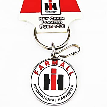 Farmall International Harvester Logo Enamel Key Chain Keychain