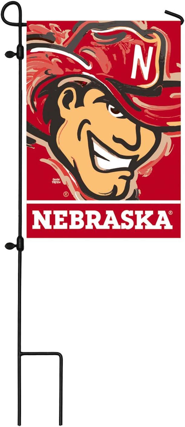 Team Sports America NCAA University of Nebraska Suede Garden Flags