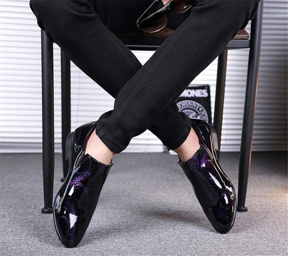 Männer Schuhe Herrenschuhe, Herbst Winter Herrenschuhe Niedrige Tanzschuhe Männliche Friseur Friseur Friseur Schuhe Spiegel Lederschuhe Herrenmode Stiefel (Farbe   EIN, Größe   43) c140fa