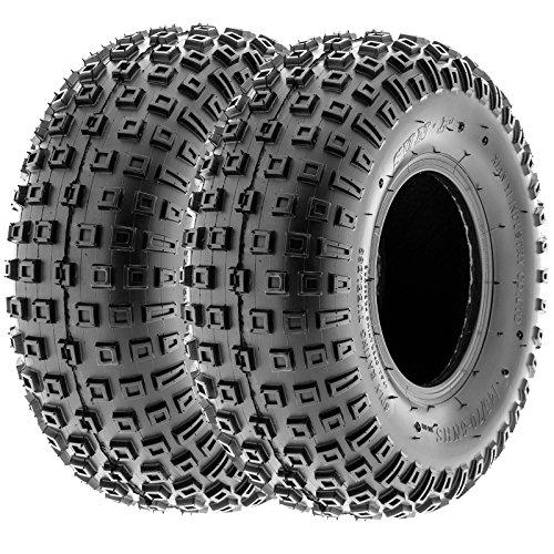 SunF 145/70-6 145/70x6 ATV UTV All Terrain Trail Replacement 6 PR Tubeless Tires A011, [Set of 2] by SUNF (Image #1)