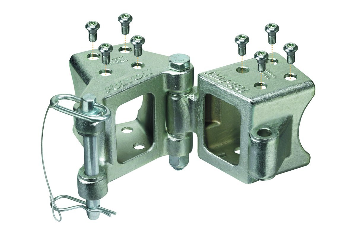 """Fulton HDPB330101 Fold-Away Bolt-On Hinge Kit for 3"""" x 3"""" Trailer Beam - up to 5,000 lb.GTW"""