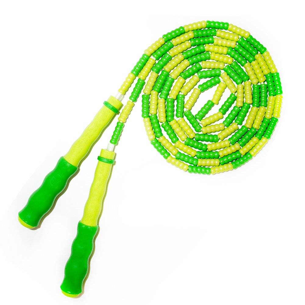 EAGLO Adjustable Speed Jump Ropes - Backyard Skipping Rope for Exercise for Kids - Boxing MMA Fitness - 8.8ft Green