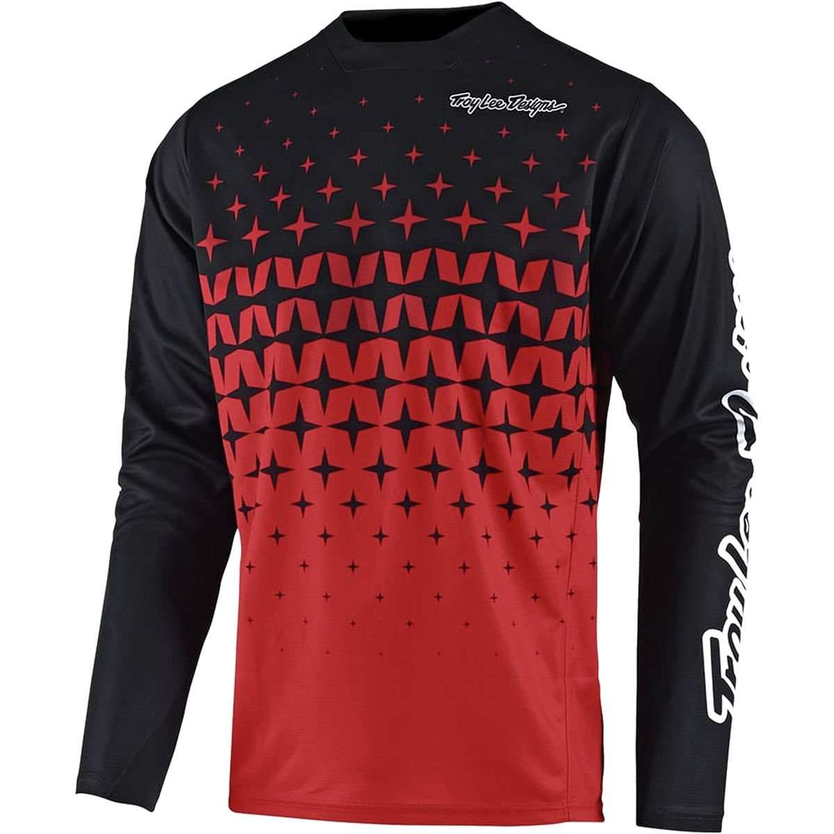 Troy Lee Designs Sprint Long-Sleeve Jersey - Men's Megaburst Red/Black, XXL by Troy Lee Designs