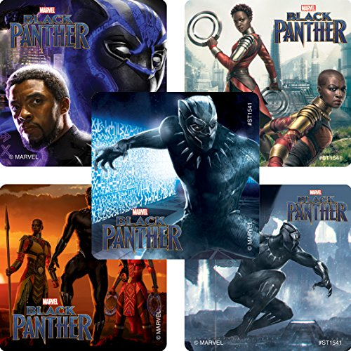 Black Panther Movie Stickers - Prizes 100 per Pack